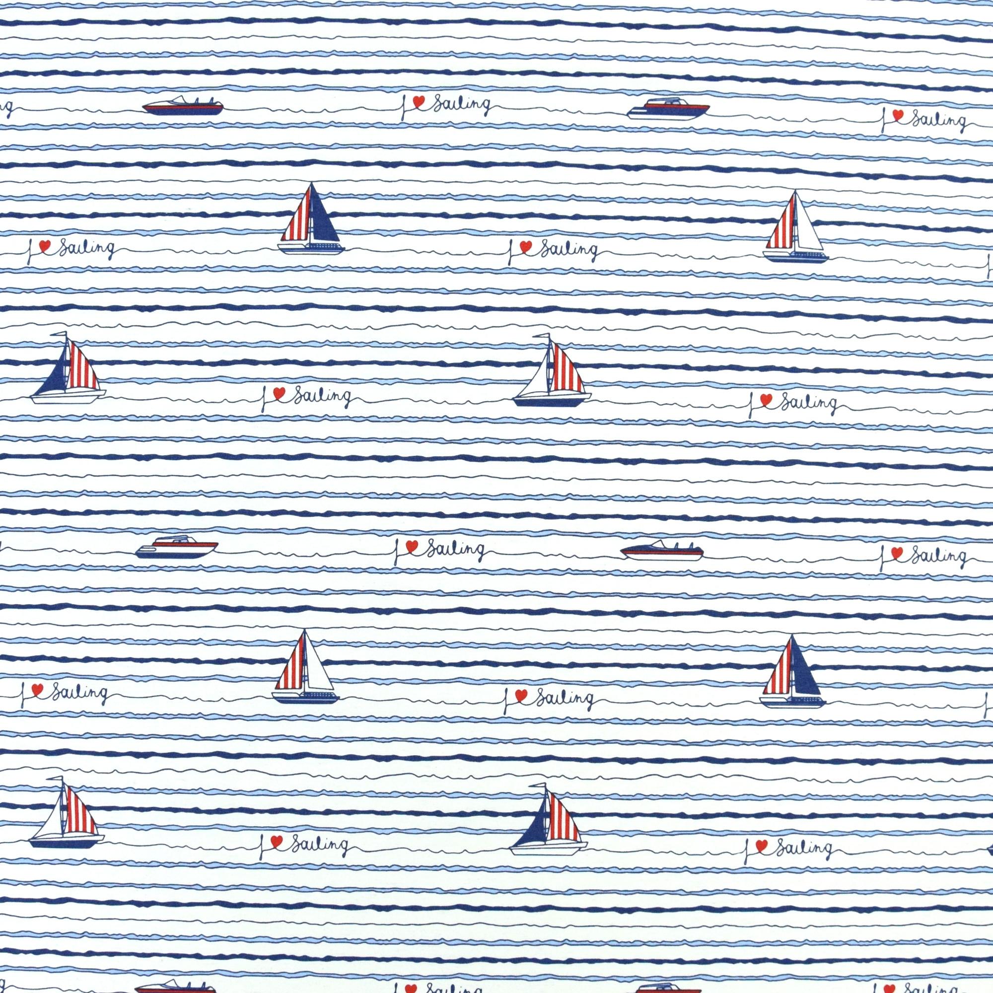 Streifen I Dekostoff Canvas 2 x  50 x 140 cm Maritim