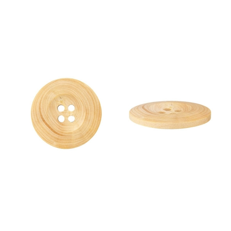 Wooden button, 25 mm