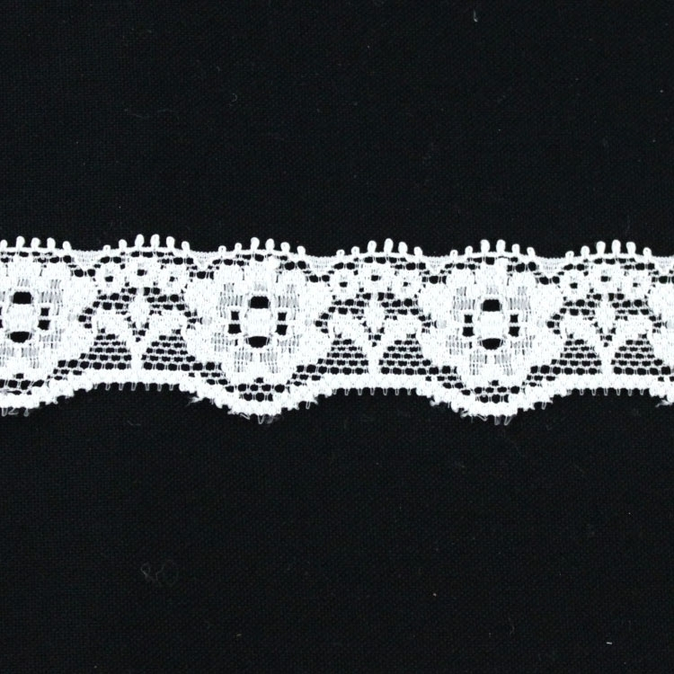 Stretch lace,, off-white 22 mm