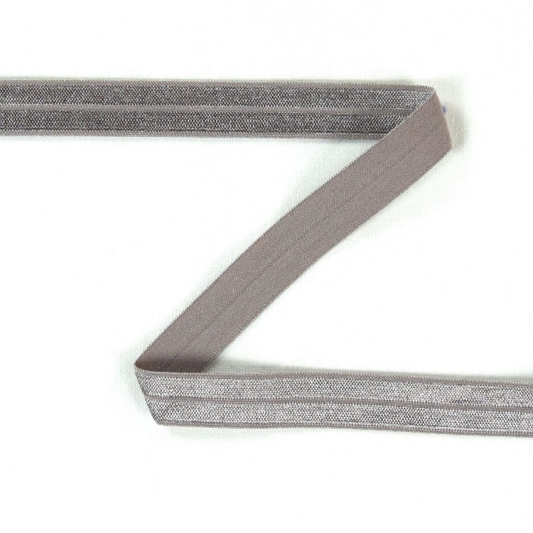 Elastic edge binding, light grey 15 mm