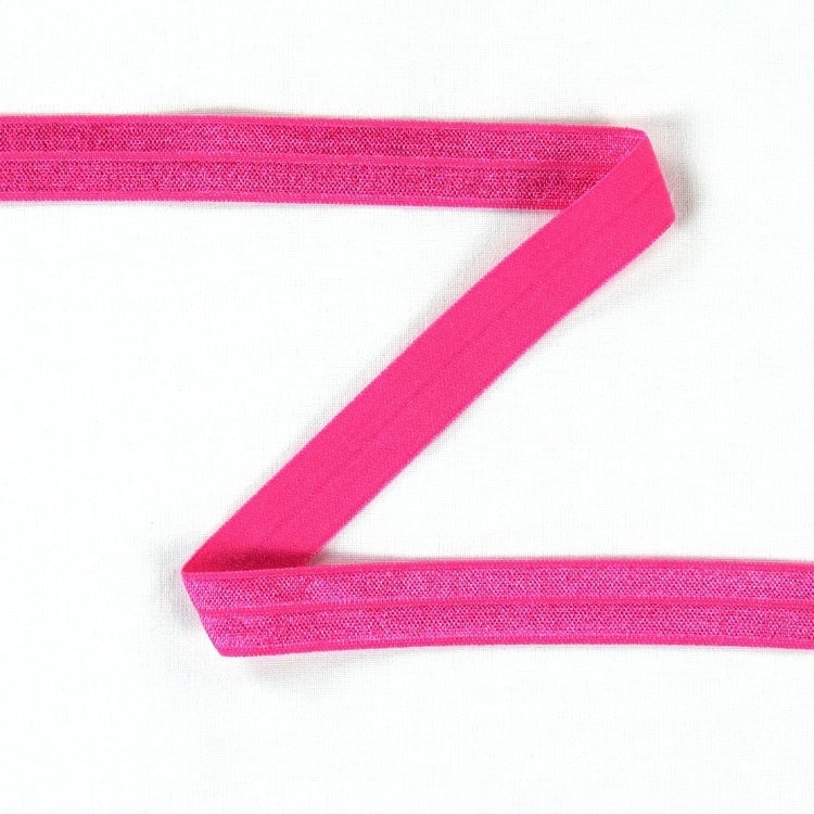 Elastic edge binding, bright pink 15 mm