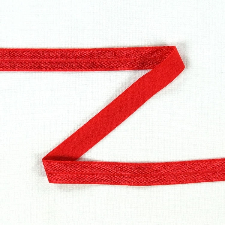 Elastic edge binding, red 15 mm