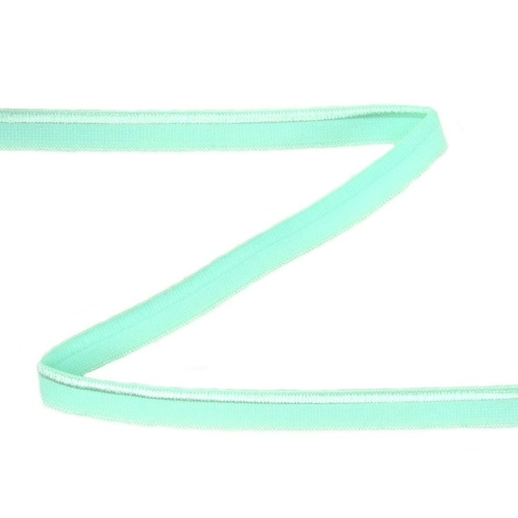 Elastic Piping Lace, mint 10 mm