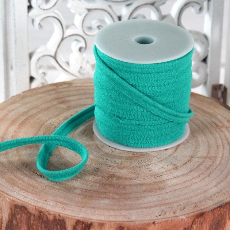 Stretchy Piping ribbon, dark mint