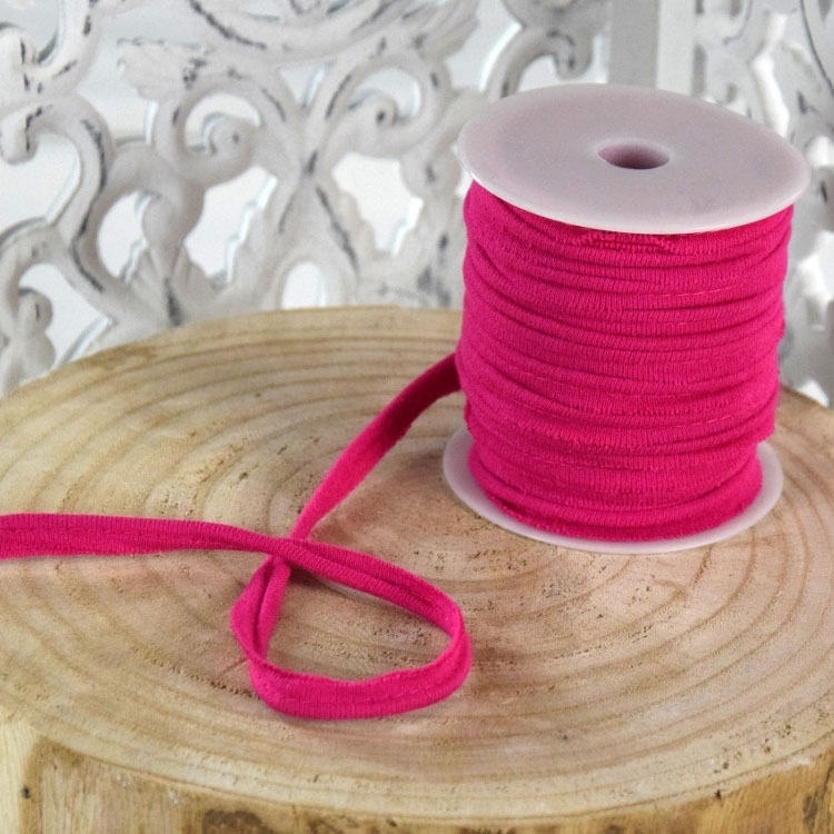 Elastisch Piping ribbon, fuchsiaroze