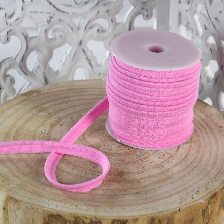 Elastisch Piping ribbon, roze | 43677 | rosa