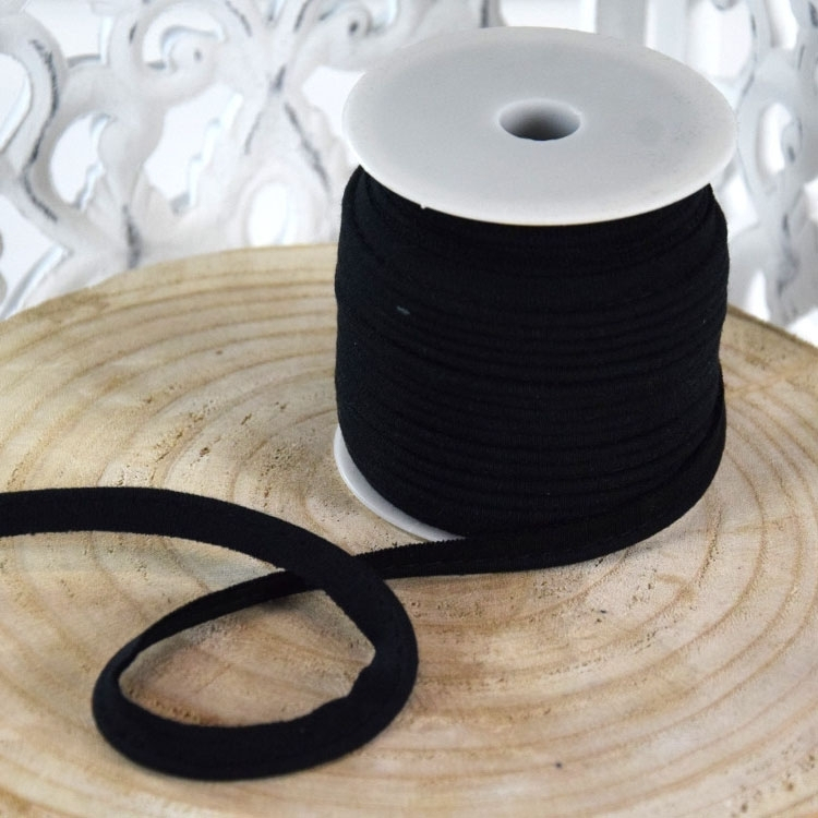 Stretchy Piping ribbon, black