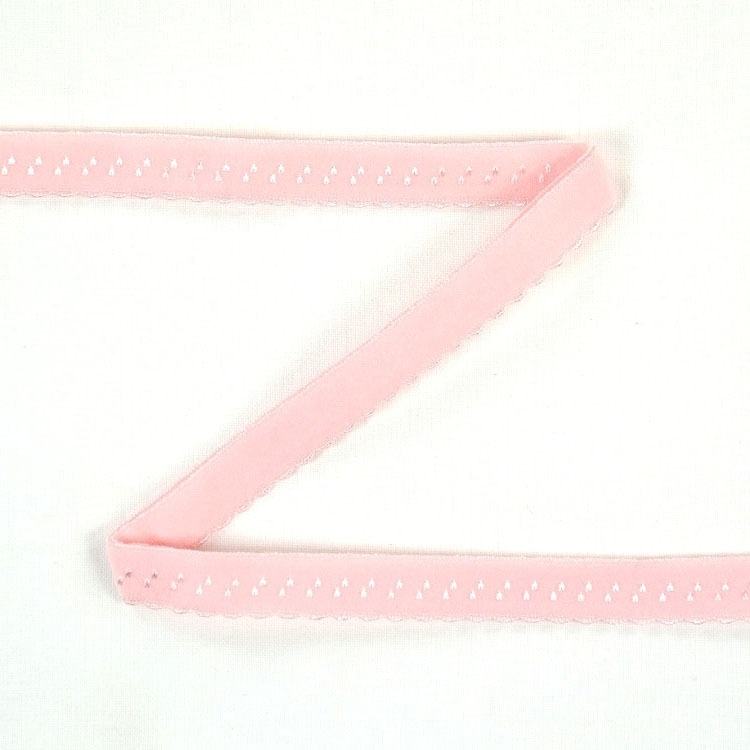 Elastic Lace Edging, rose 12 mm