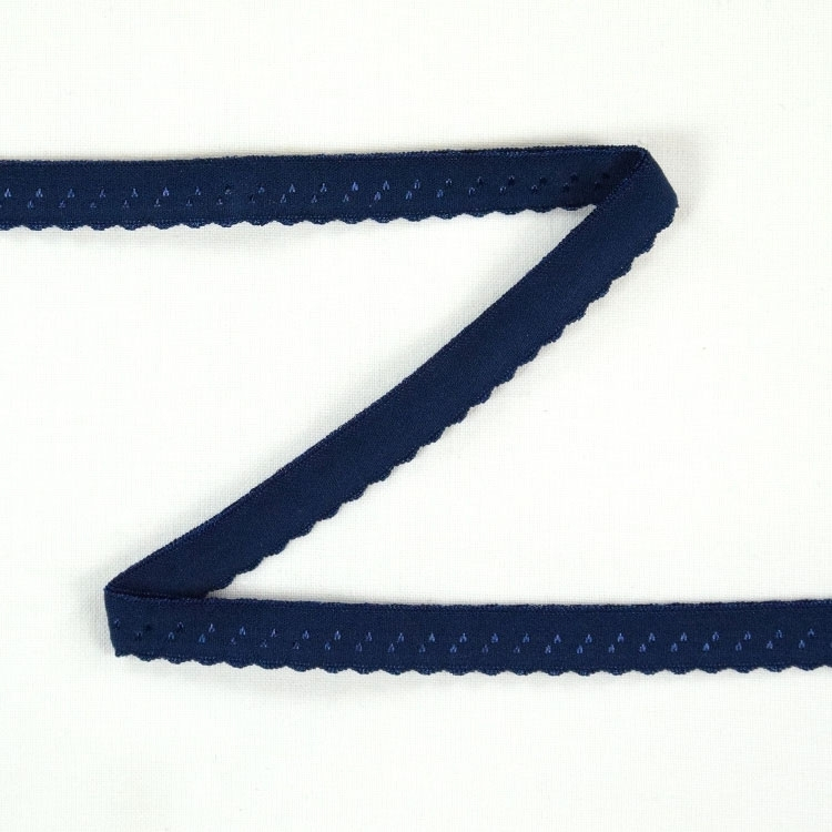 Elastic Lace Edging, darkblue 12 mm