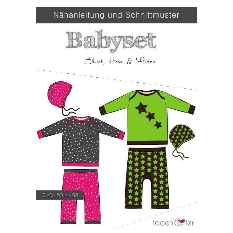 Papierschnittmuster für ein Babyset von Fadenkäfer