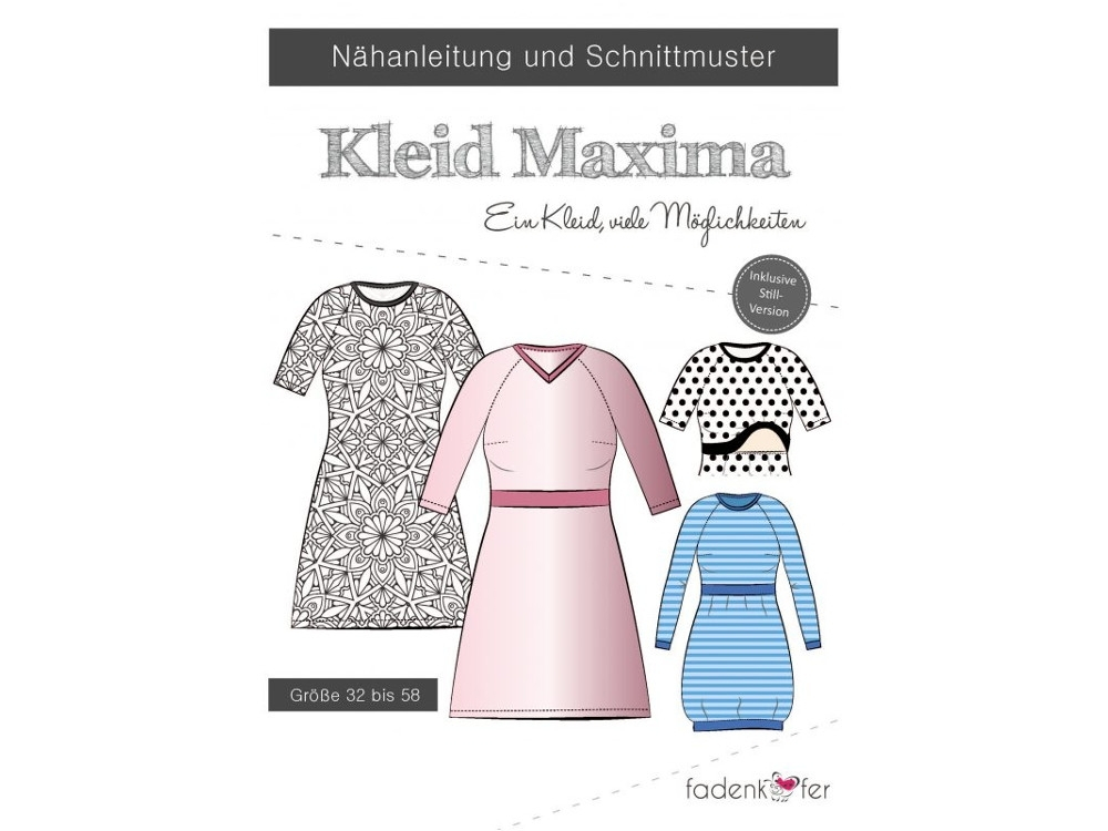 Fadenkäfer Dress Maxima Woman paper pattern