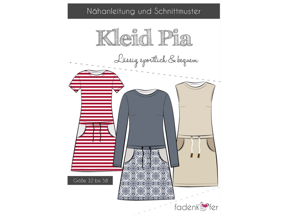 Fadenkäfer Pia dress women paper pattern