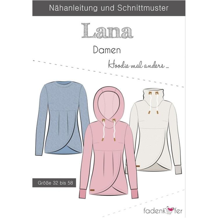 Fadenkäfer Lana Hoodie Damen Papierschnittmuster | stoffe-hemmers.de