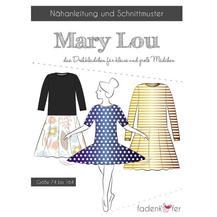 Papierschnittmuster für Drehkleidchen 'Mary Lou' von Fadenkäfer