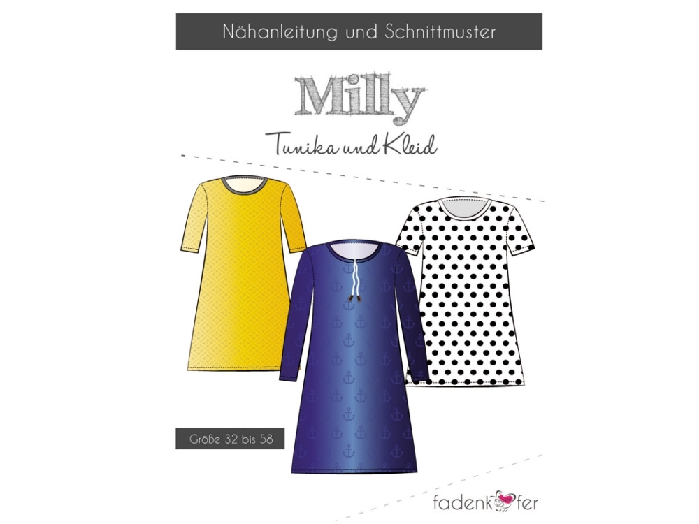 Fadenkäfer Milly tunic & dress women paper pattern