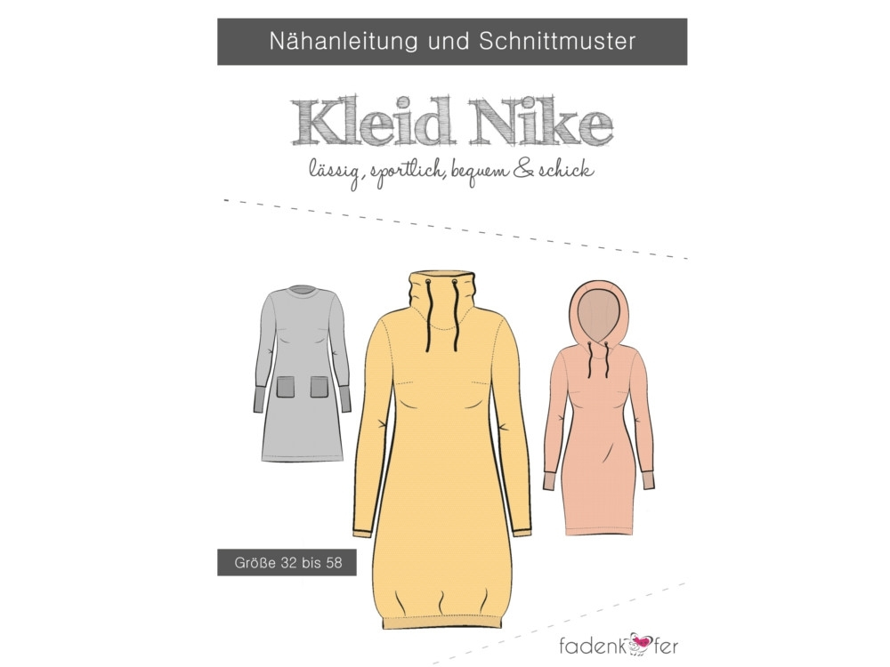 Fadenkäfer Nike dress women paper pattern, size 32-58
