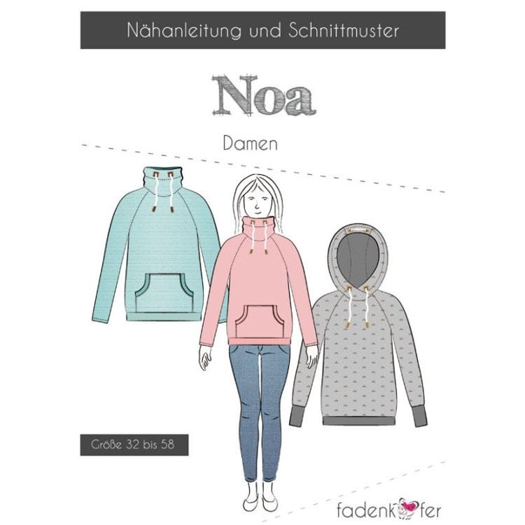 Fadenkäfer Noa raglan hoodie women paper pattern | fabrics-hemmers.com