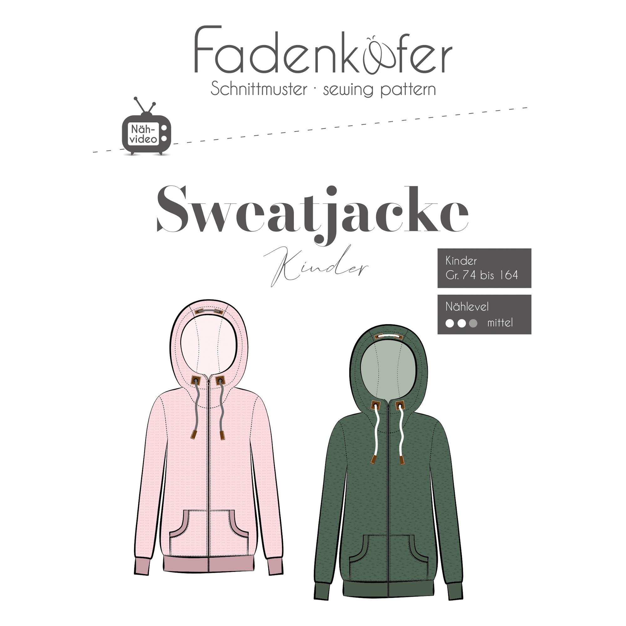 Fadenkäfer Sweatjacke Kinder Papierschnittmuster | stoffe-hemmers.de