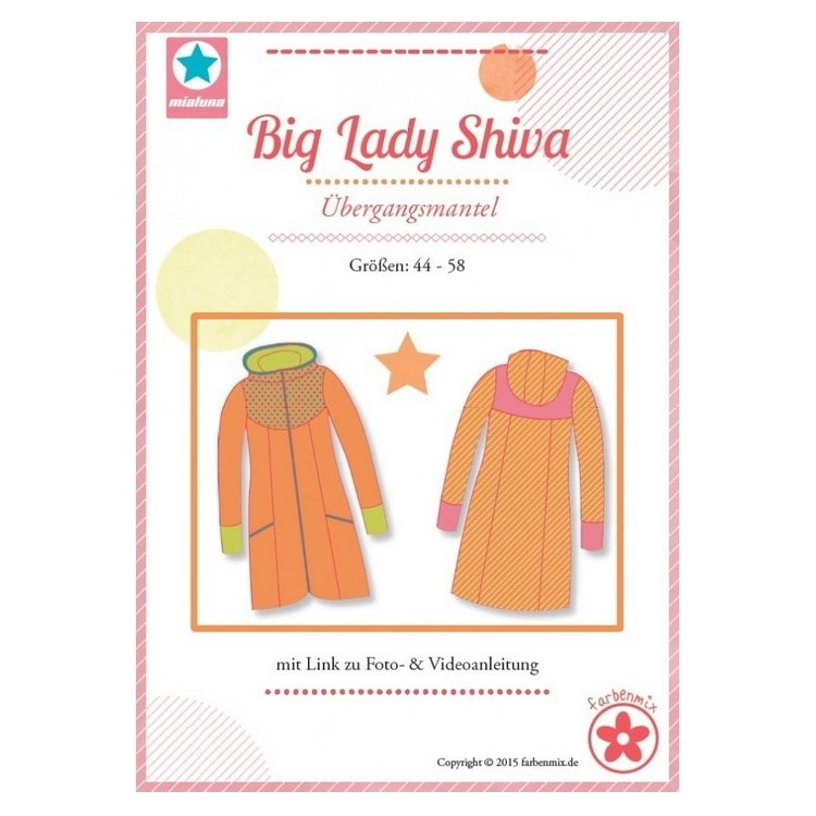 Farbenmix Big Lady Shiva women's coat, paper pattern