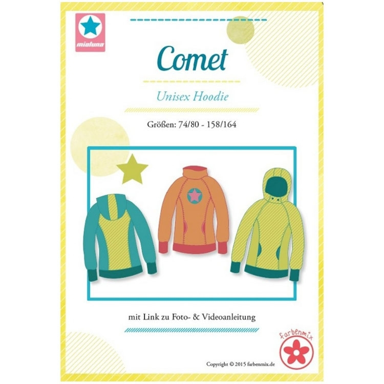 Farbenmix Comet hoodie, paper pattern | fabrics-hemmers.com