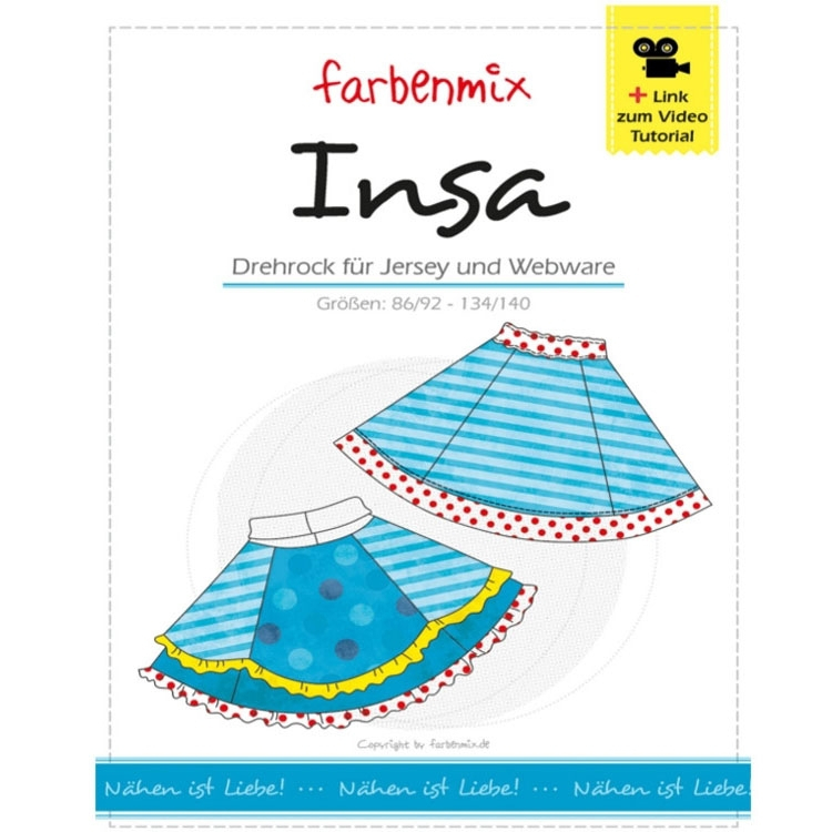 Farbenmix Insa double skirt, paper pattern