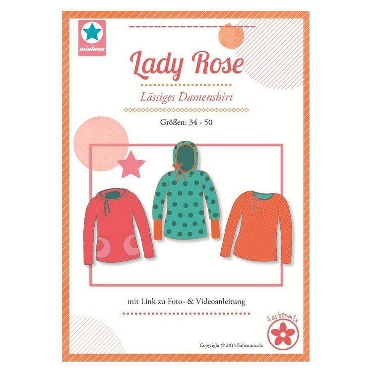Farbenmix Lady Rose women's shirt. paper pattern
