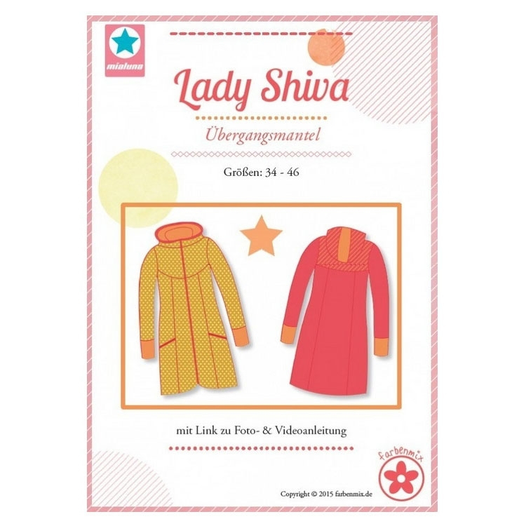 Farbenmix Lady Shiva Between-seasons Coat, Patron en papier