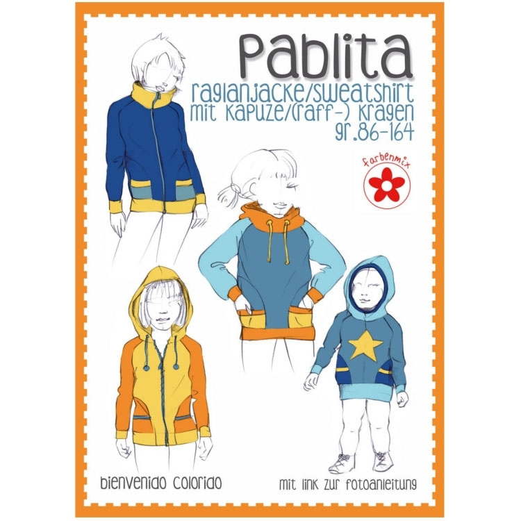 Farbenmix Pablita hoodie and jacket, paper pattern