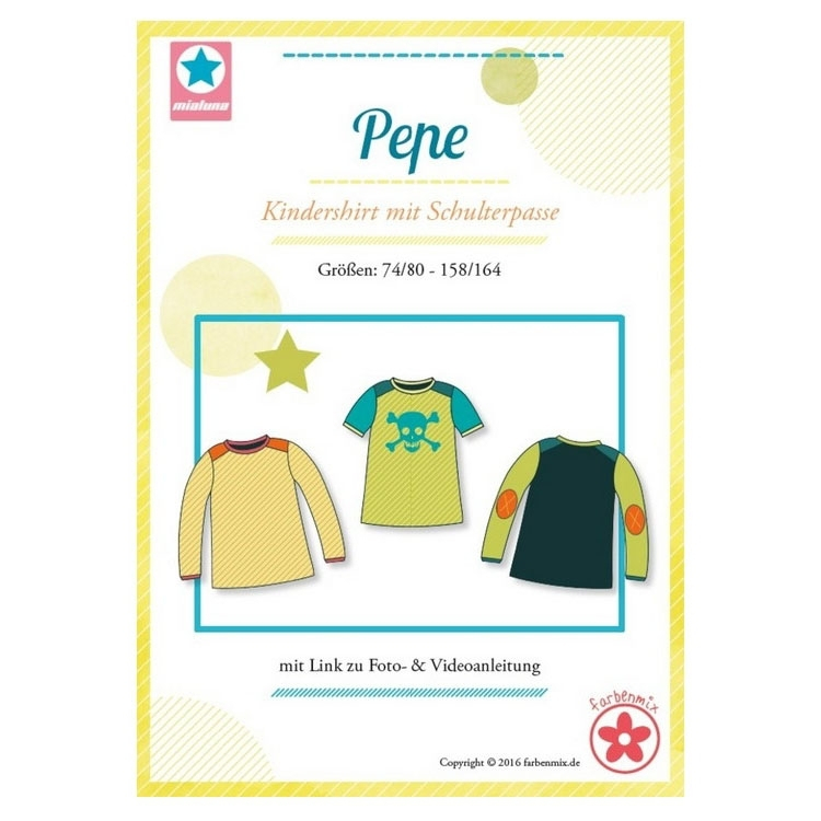 Farbenmix Pepe children's shirt, paper pattern