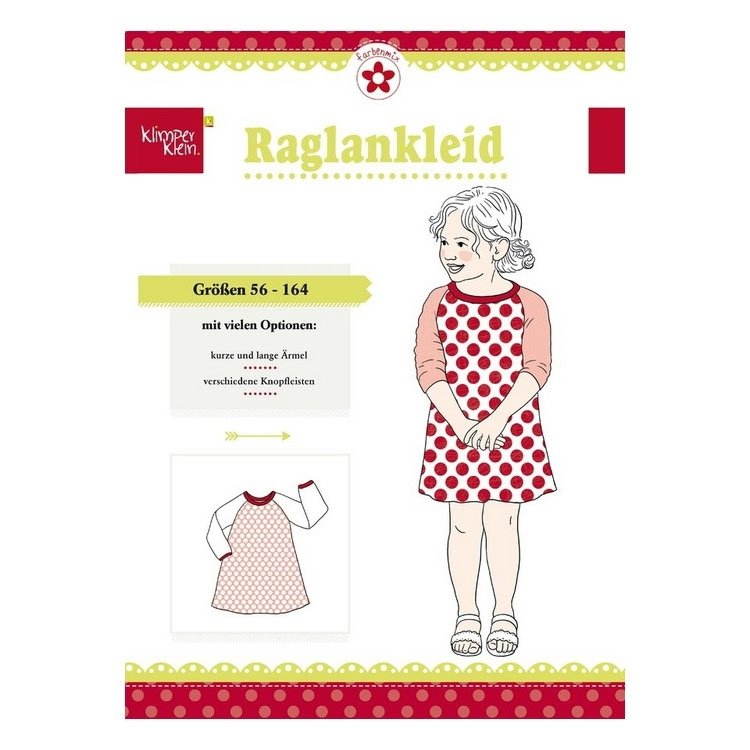 Farbenmix Raglan dress paper pattern