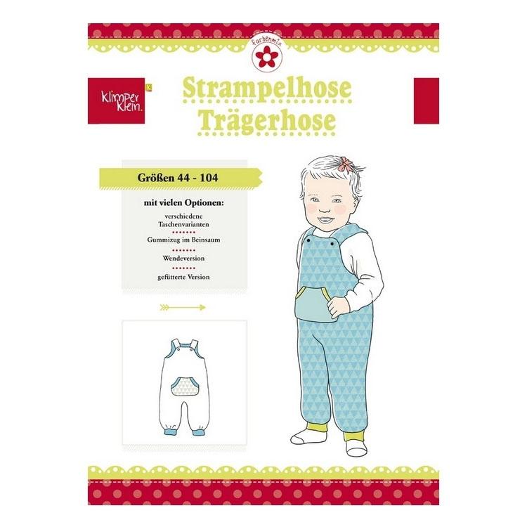 Papierschnittmuster für Strampelhose und Trägerhose von Farbenmix