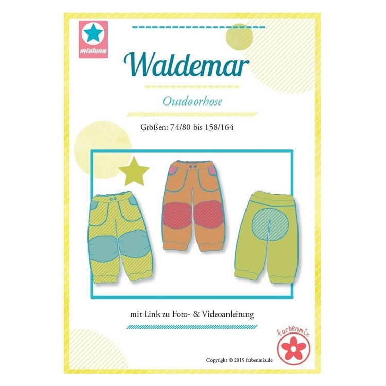 Farbenmix Waldemar outdoor pants, paper pattern