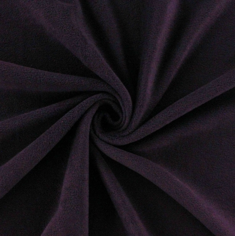 Fleece antipilling aubergine
