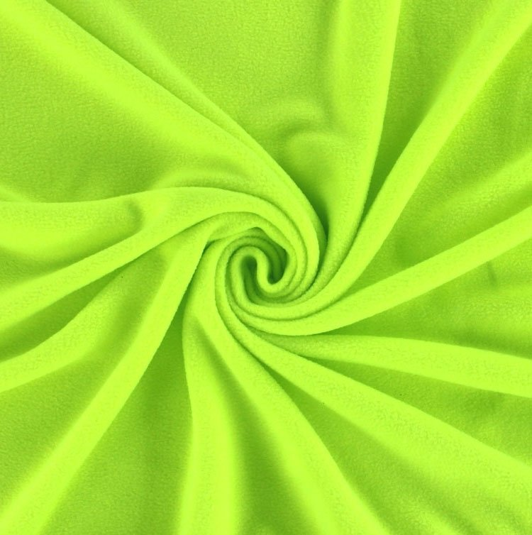 Fleece antipilling neon-geel