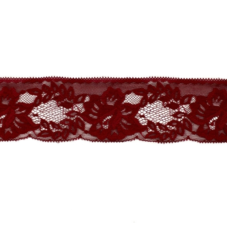 Embroidered lace, claret-red | 3829-72 |