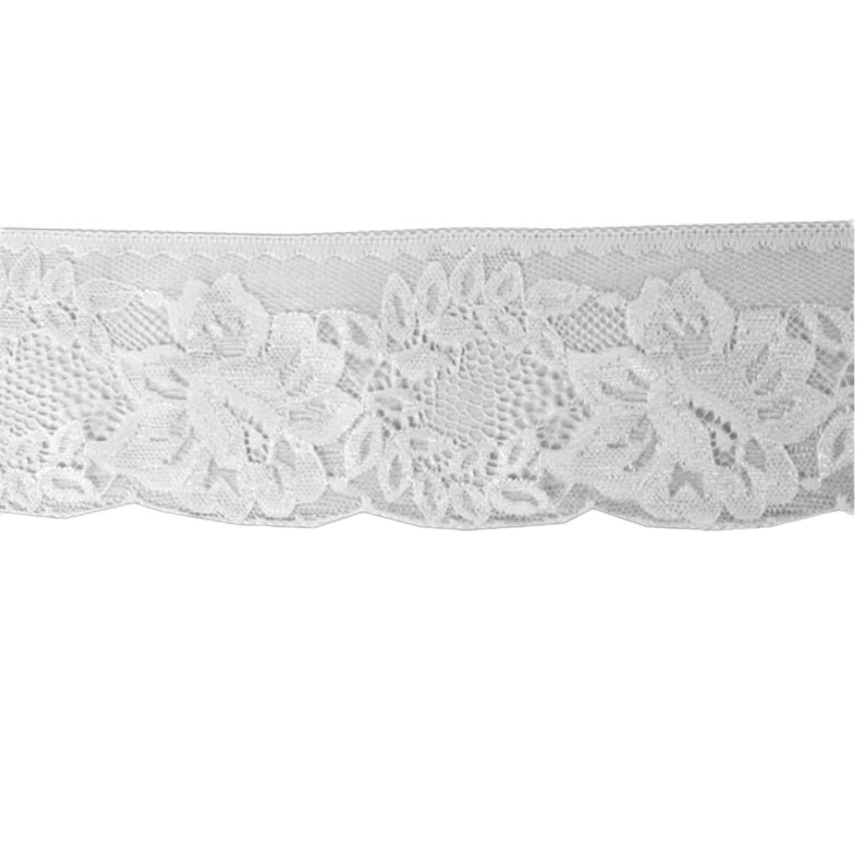 Embroidered lace, white 001
