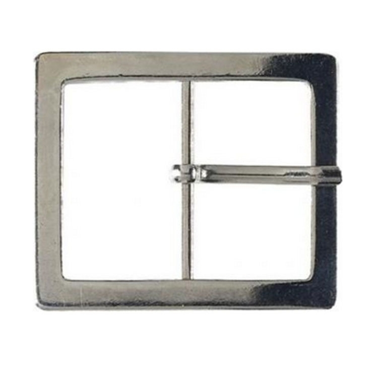 Belt buckle metal, 40mm, silver