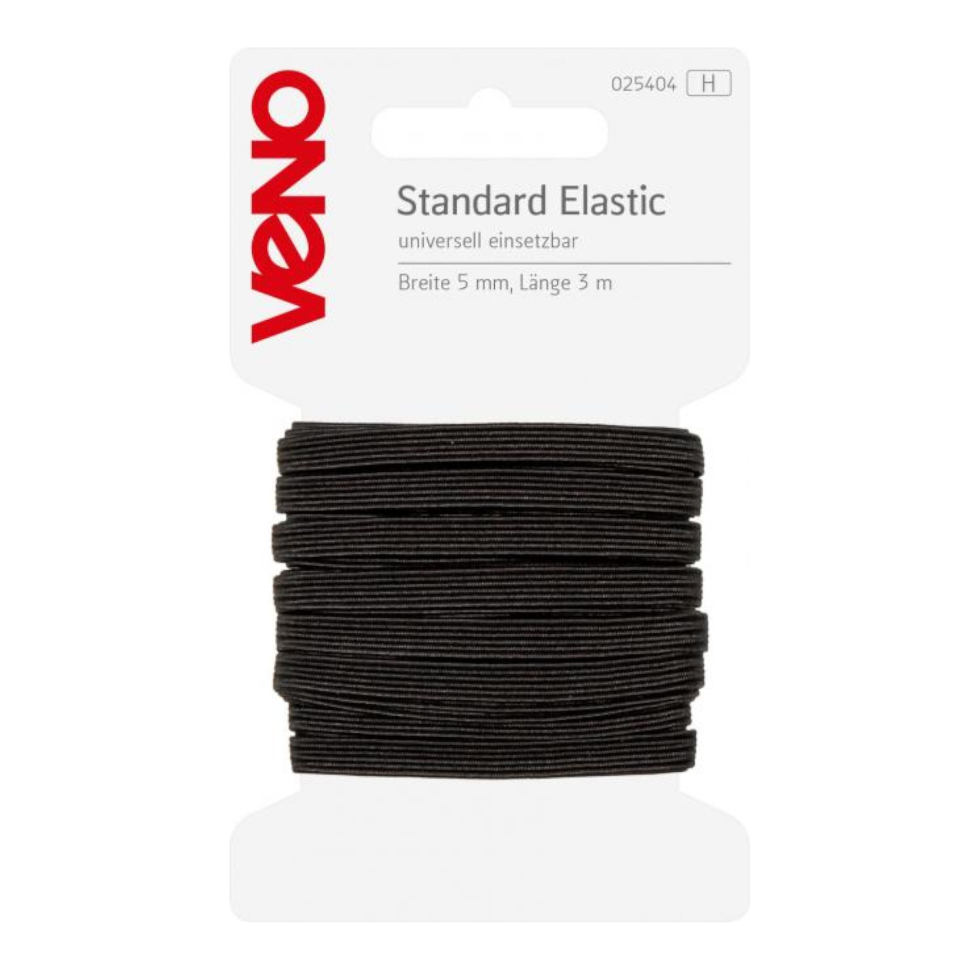 Elatic-band, 3 m, 5 mm breed, zwart