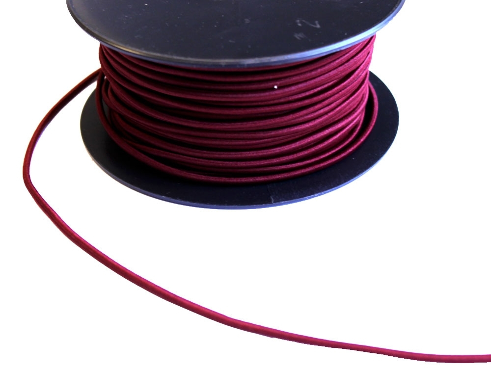 Cordon élatique chapeau bordeaux 3mm | 903-72 |