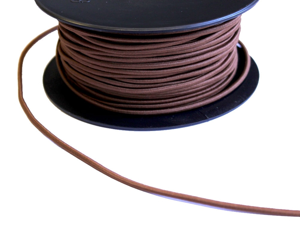 Cordon élatique chapeau marron 3mm | 903-60 |