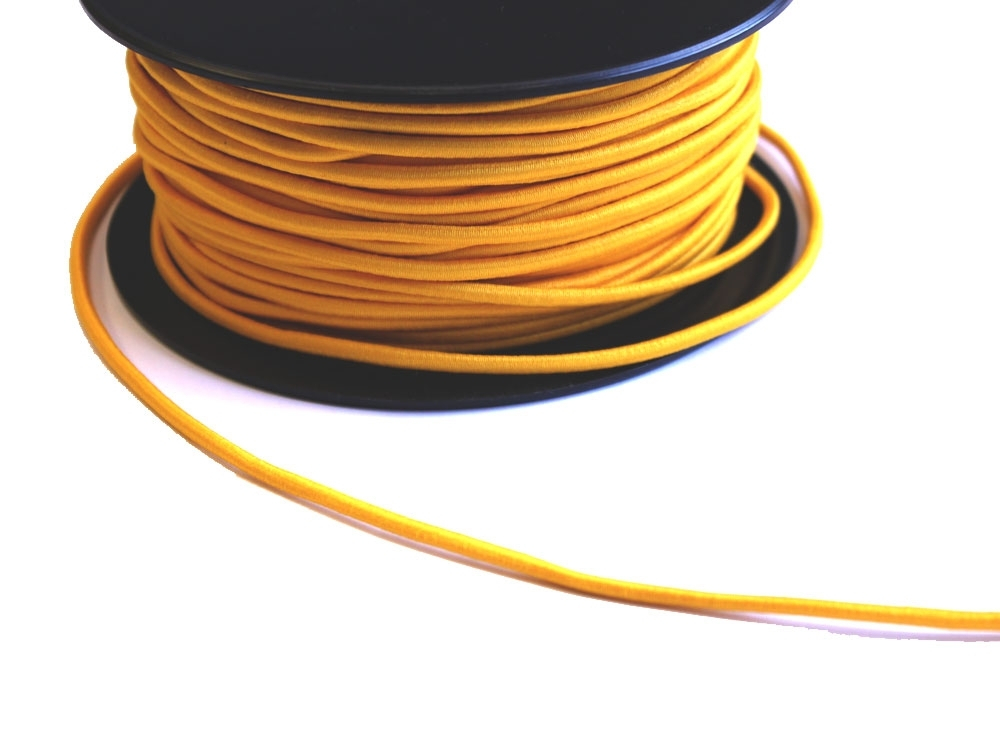 Cordon élatique chapeau jaune 3mm | 903-52 |