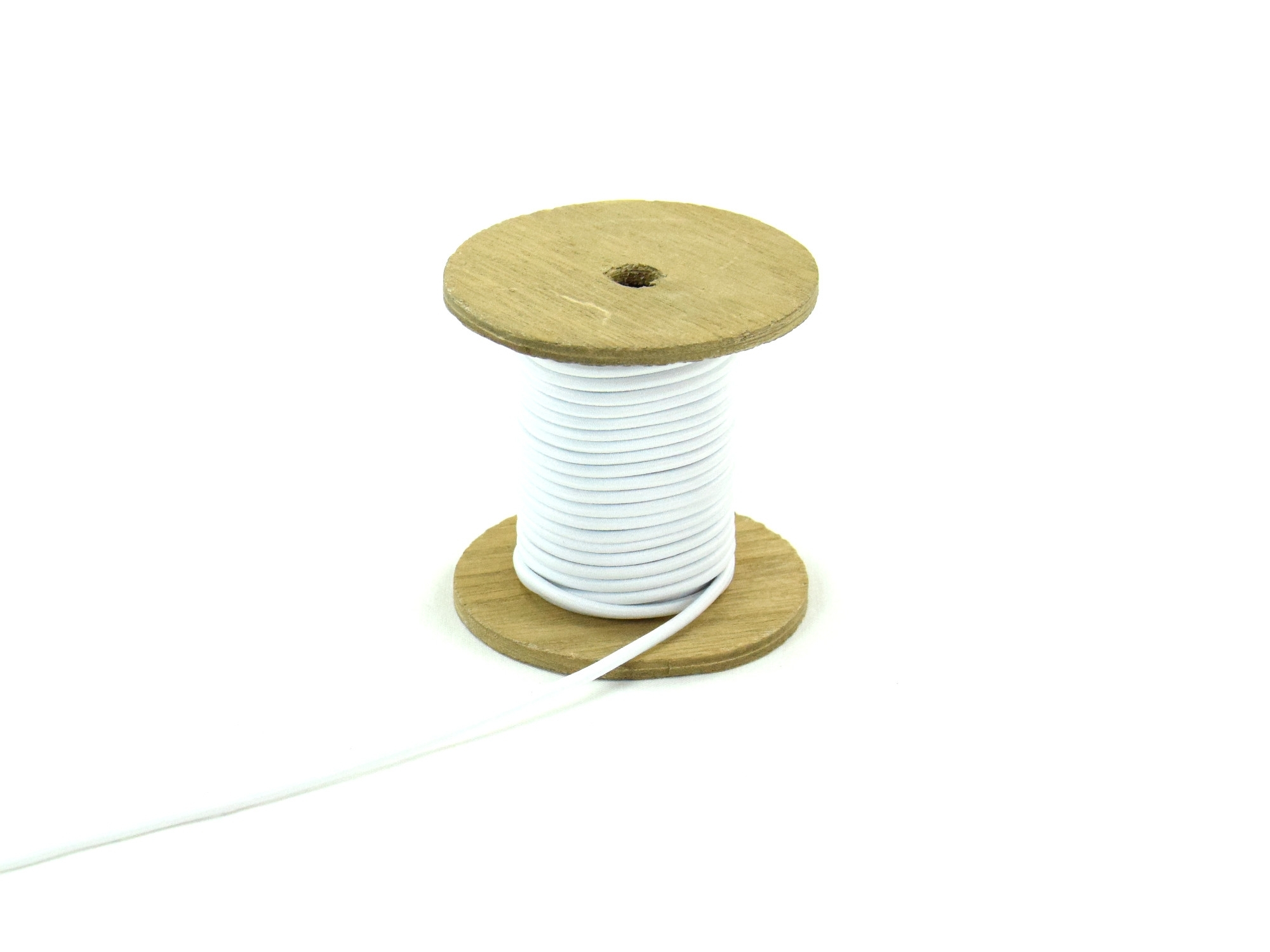 Cordon élatique chapeau blanc 3mm | 903-01 |