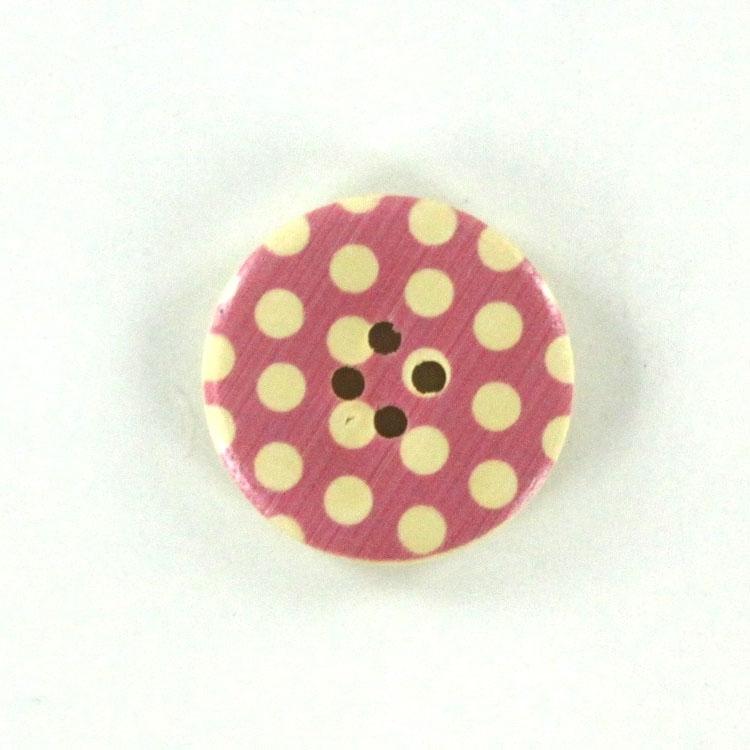 Gepunkteter 4-Lochknopf aus Holz