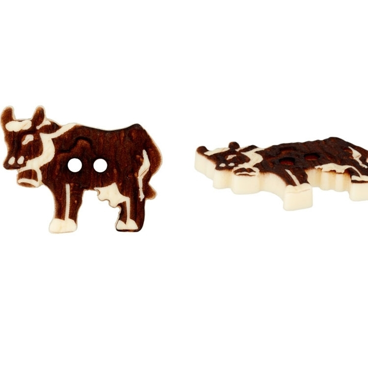 Imitaion of a horn Button Cow, 20 mm