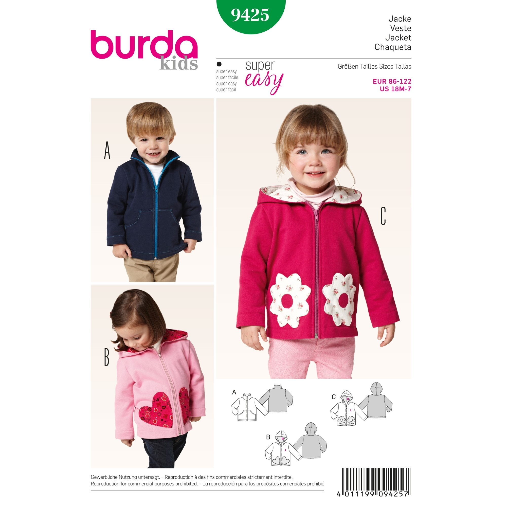 Sewing pattern Żakiet Burda 9425