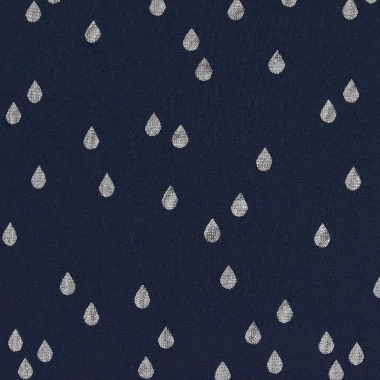 Dunkelblauer Jacquard mit silbernen Wassertropfen
