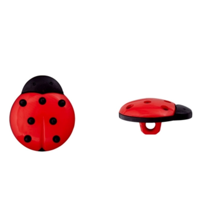 Button ladybug, red 14 mm