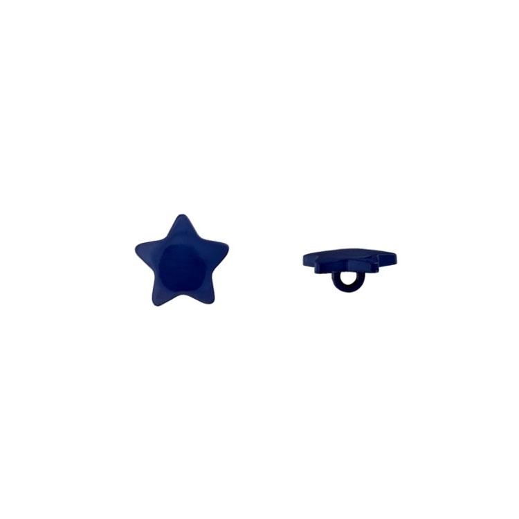 Stern-Ösenknopf in Marineblau