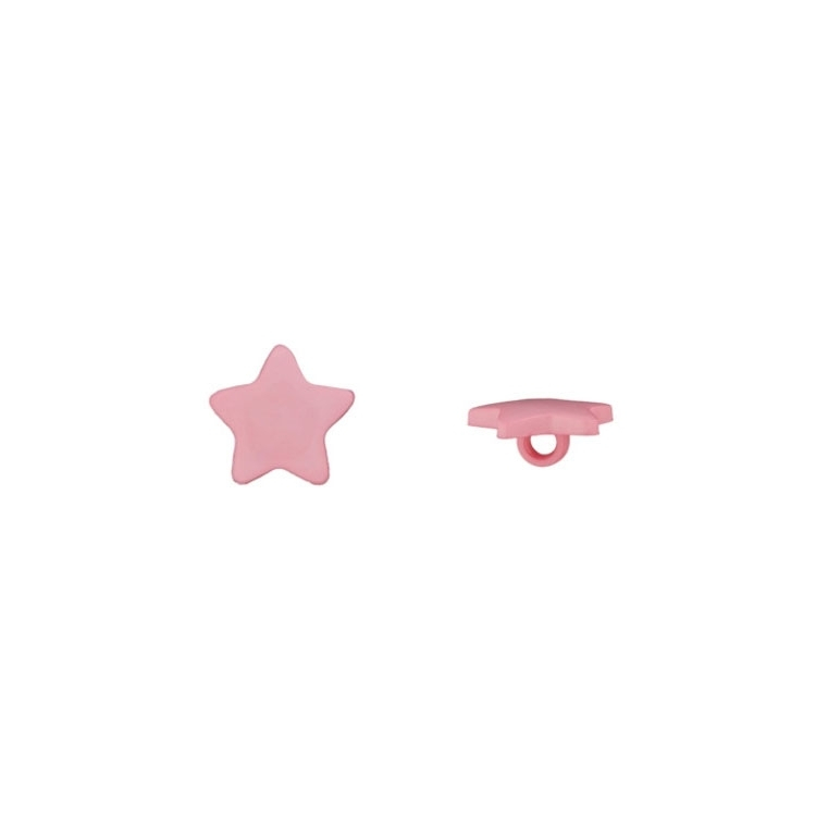 Children Button Shank Star, rose 15 mm