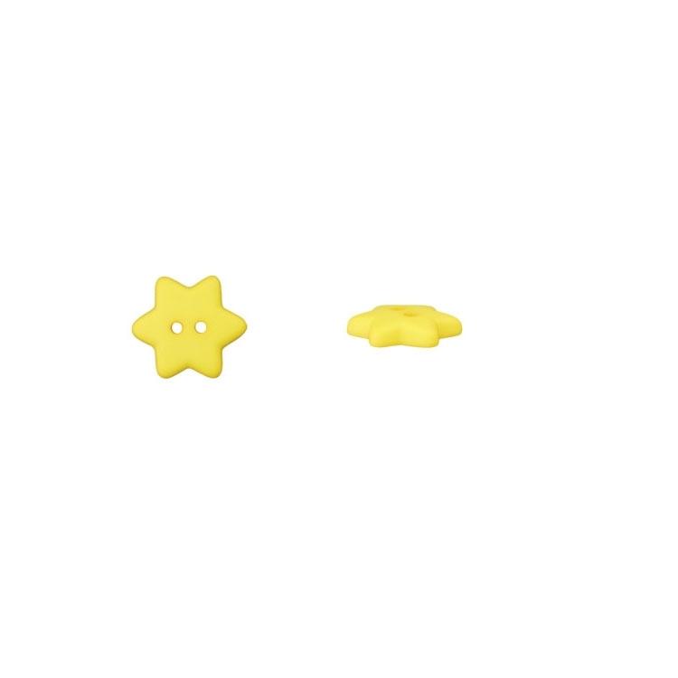 Gelber 2-Lochknopf 'Stern'